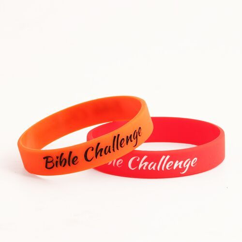 Bible Challenge Cusotm Silicone Wristbands